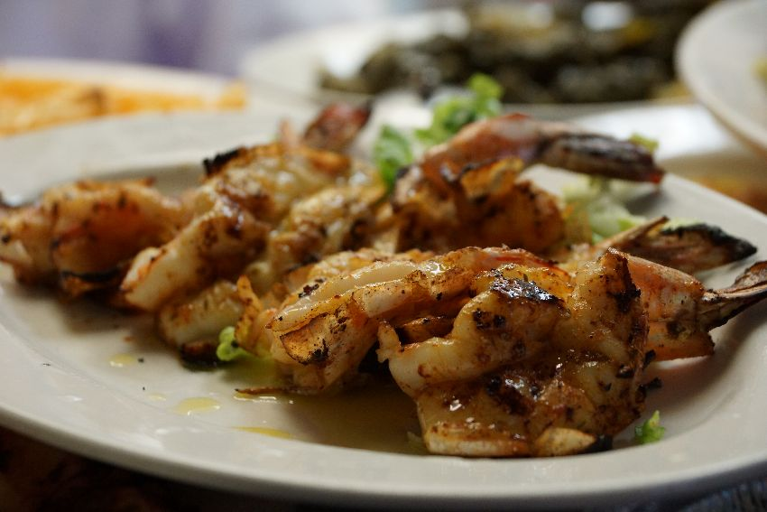 taverna kyclades traditional grilled shrimp
