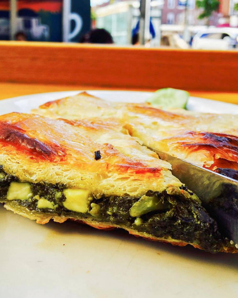 taverna kyclades traditional spinach pie
